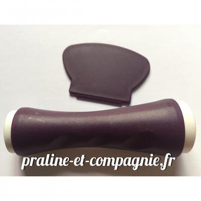 Kit double tampon et raclette pour stamping - violet