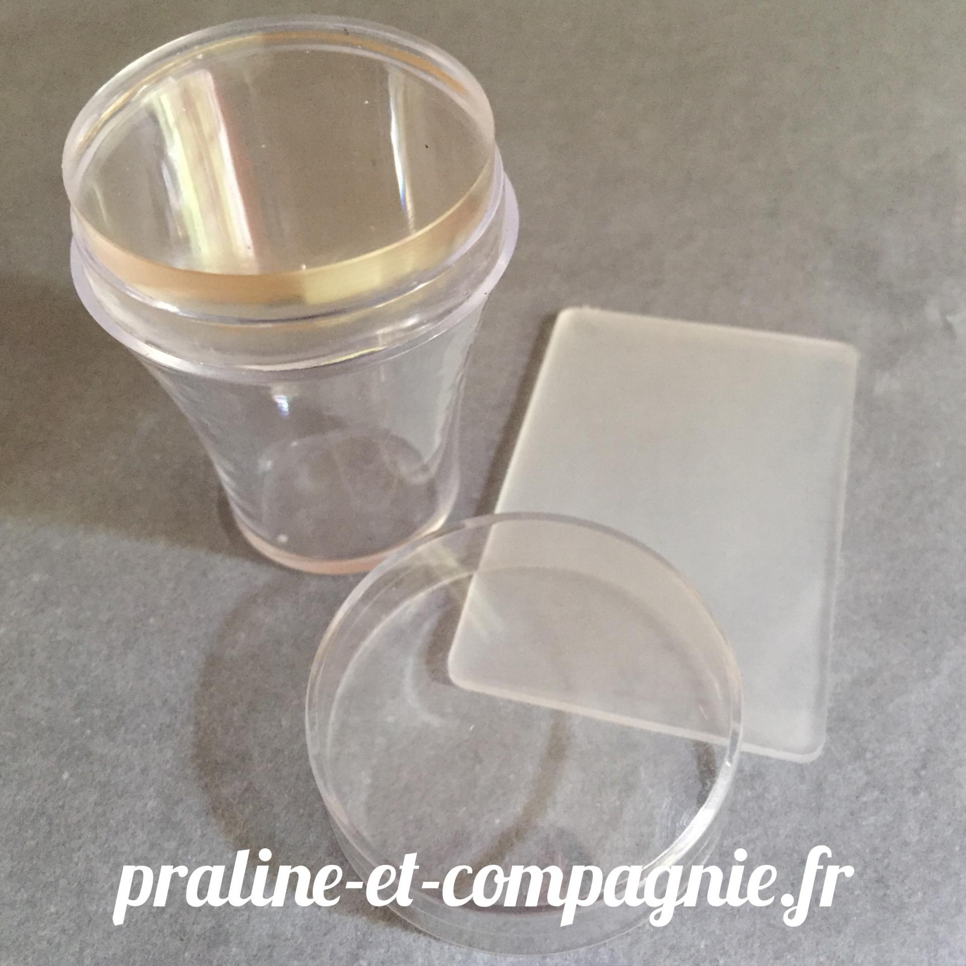 Clear Jelly Stamper with cap
